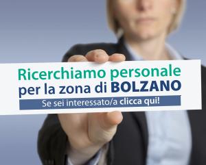 Selezione personale per la zona di Bolzano