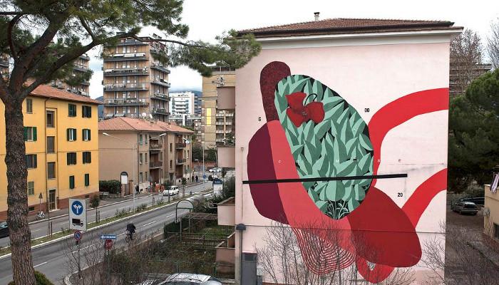Un'opera murale di Giulio Vesprini